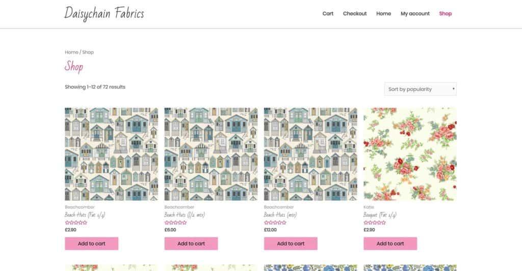 Ecommerce website idea by Blue Orbit Web Design