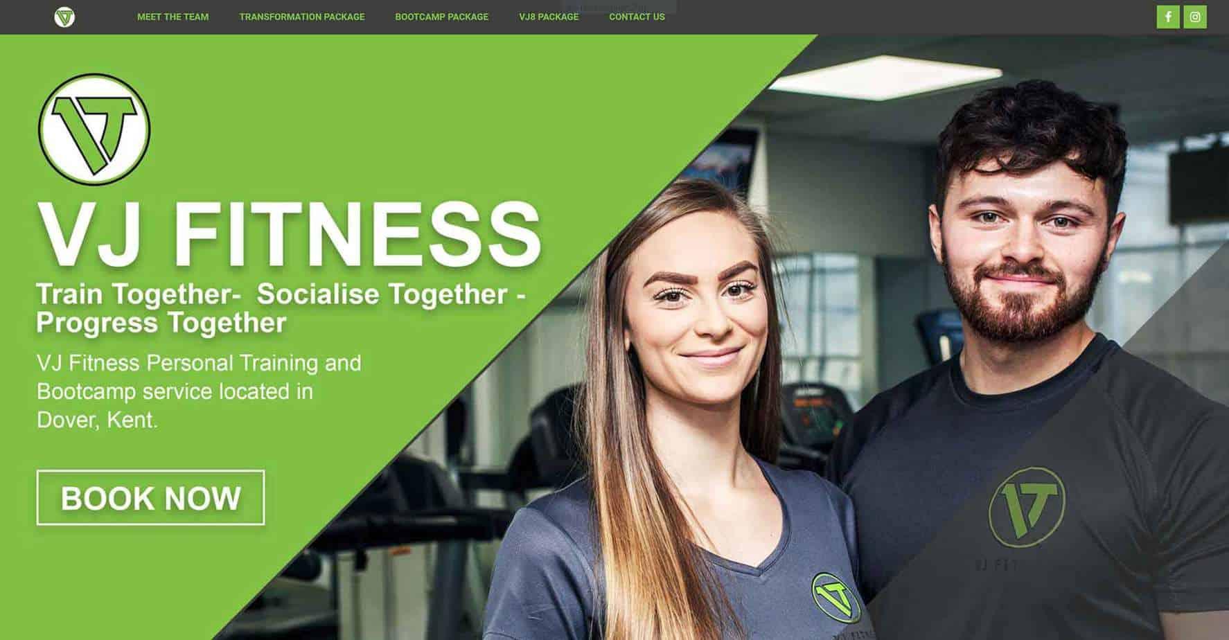 Gym website design ideas by Blue Orbit Web Design