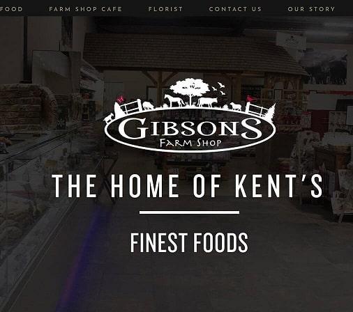 Gibsons Farm Shop Website by Blue Orbit Deal Kent CT14